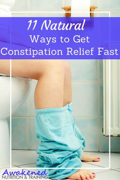 11 Natural Ways to Get Constipation Relief Fast // Awakened Nutrition -- remedies for allergies remedies for constipation remedies for diabetes remedies for eczema remedies for sleep Baking Soda For Constipation, Ways To Relieve Constipation, Pregnancy Constipation, Bloating And Constipation, Constipation Relief, Constipation Remedies, Homeopathic Remedies, Home Remedies