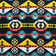 Navajo Arrow Tribal Bold Cotton Jersey Blend Knit Fabric :: $7.00