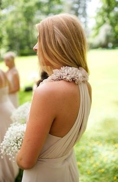 love the back of this bridesmaids gown