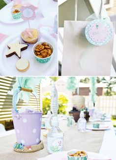 Little mermaid party ideas - repaint the bucket we have and put party treats inside