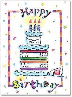 Dental Happy Birthday Folding Card By SmartPractice Funnydentalquotes