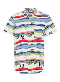 White Cartoon Print #shortsleeve shirt by #Topman