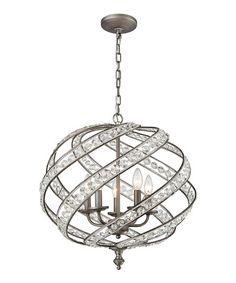 Weathered Zinc Renaissance Five-Light Chandelier #zulily #zulilyfinds