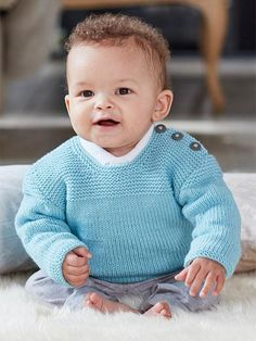Easy-On Pullovers for Babies and Children Knitting Patterns Easy-On Pullovers for Babies and Children Knitting Patterns,Knitting Knitting Pattern for Snuggly Baby Pullover – Baby sweater with shoulder fastening to make it easier to put. Baby Knitting Patterns, Baby Sweater Patterns, Baby Cardigan Knitting Pattern, Knitted Baby Cardigan, Knit Baby Sweaters, Knitted Baby Clothes, Baby Patterns, Baby Knits, Pullover Sweaters