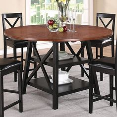 Round Counter Height Table With Leaf - Foter