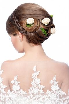 Fashion Wedding Hairstyle Bride 634x953 20 Floral Bride Hairstyle