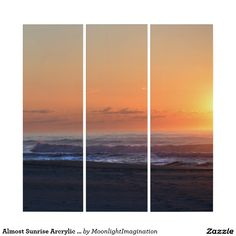 Almost Sunrise Arcrylic Wall Art Triptych