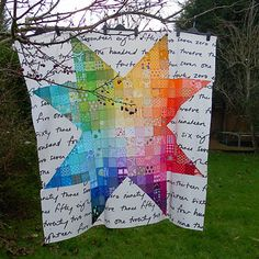 """I'm in love with this """"Star Light Star Bright"""" quilt from Flying Bird."""
