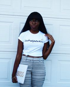 As a believer in the fact that words have power, I try to remind myself daily of who I am and what I bring to the table. This Entrepreneur shirt is my reminder that my dream is valid and that I will make it. Be Your Own Boss, Everyone Knows, Black Women, Entrepreneur, Bring It On, Shirts, Tops, Table, Fashion