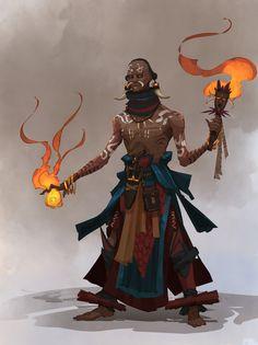 ArtStation is the leading showcase platform for games, film, media & entertainment artists. Black Characters, Fantasy Characters, Fantasy Inspiration, Character Design Inspiration, Fantasy Races, Fantasy Art, African Mythology, Witch Doctor, Guild Wars