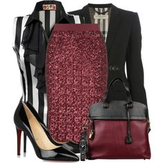A fashion look from January 2014 featuring JJ Park blouses, Burberry blazers and Christian Louboutin pumps. Browse and shop related looks. Fashion Moda, Work Fashion, I Love Fashion, Passion For Fashion, Fashion Looks, Womens Fashion, Fashion Trends, 90s Fashion, Fashion Online