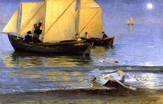 Peder Severin Kroyer,     Fishing Boats   - 1884