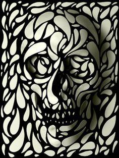 super cool skull prints by Ali Gulec