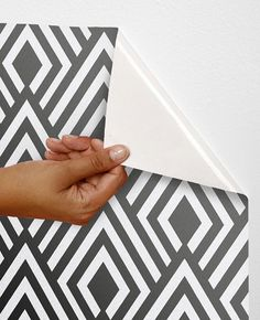 Removable self-adhesive modern vinyl Wallpaper wall sticker - Ikat pattern C004 op Etsy, 26,62 €