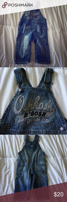 Oshkosh B'Gosh denim overalls - 12 Month Brand new Oshkosh B'Gosh denim overalls - never worn. Size 12 Months OshKosh B'gosh Bottoms Overalls