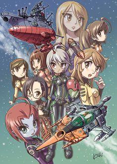 Yamato 2199: Girls of the Yamato (chibi) by Kiichi