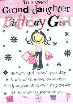 Granddaughter Grandaughter Birthday Quotes Happy Grand Daughter Kids