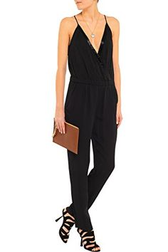 Diane von Furstenberg Shany Embellished Silk Jumpsuit 4 * Details can be found by clicking on the image. (This is an affiliate link) #LadiesJumpsuitsandRompers