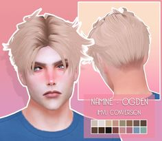 The Sims 4 Patreon Namine Hair The Sims 4 Pc, Sims 4 Mm Cc, Sims Four, Sims 4 Cas, My Sims, Sims 4 Stories, Sims 4 Hair Male, Sims 4 Collections, The Sims 4 Cabelos