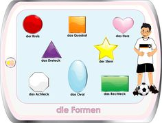 learn German - worksheets for kids