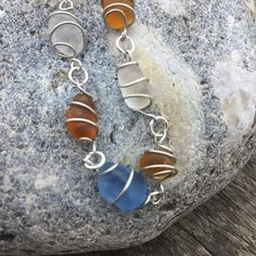 Wrapped Sea Glass Bracelet, Beach Glass Bracelet, Sea Glass Jewellery, Seaglass Bracelet, Sea Glass Gifts, Beach Glass Gifts, Wire Wrapped #sunnydazestudio #bexhill #seaglass #beachglass #handmadejewellery #crafts #handmade