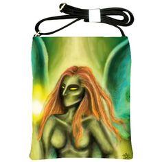 """""""The Green Faery"""" Shoulder Sling Bag via ArtsNow.com"""