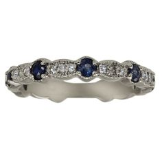 Love sapphires on a wedding band Wedding inspiration Pinterest