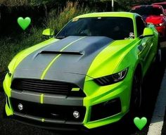 Lime green and black FORD mustang. Lime green and black FORD mustang. Ford Mustang Gt, Mustang Shelby Cobra, Mustang Bullitt, 2015 Mustang, Mustang Cars, Ford Gt, Roush Mustang, Shelby Car, Cool Sports Cars