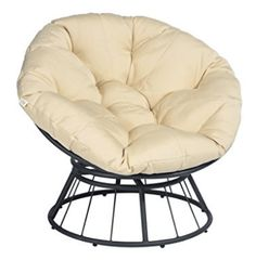 ART TO REAL 360 Swivel Papasan Chair Thickness Cushions, Indoor Outdoor Furniture Chair Deep Seating Moon Chair Glider, Solid Twill Fabric Khaki Cushion Outdoor Furniture Chairs, Patio Chairs, Arm Chairs, Accent Chairs, Papasan Chair, Chair Cushions, Outdoor Lounge, Comfy Reading Chair, Comfy Armchair