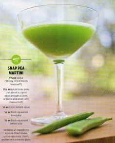 Snap Pea Martini