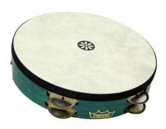 """Remo 12"""" Layne Redmond Tar-Rine by Remo. $103.99. The Tar-Rine, designed by Layne Redmond, is a combination of a Tar and a Tambourine. It is large in diameter, like the Tar, and has 8 double rows of very light German silver jingles.. Save 21%!"""