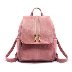4cb5c72fc223 Women Leather Backpacks Vintage School Bag for Teenage Girls Female Fashion  Rucksack Mochila Grey Black Zipper Travel Bags XA22H