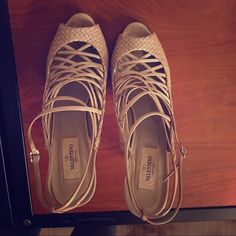 Valentino Heels Valentino Heels size 9 but fits size 8.5 and some 8. Paid $1250.00 and only wore once. Unfortunately I hurt my back and have been asked not to wear heels by dr. Valentino Shoes Heels