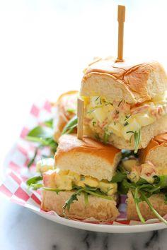 Skinny Egg Salad Sliders - Damn Delicious