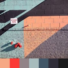 How #fun is this wall? Thanks for the #color #inspiration @mandoo.cat! Keep tagging your photos #foundpalettes! #love #streetart #wallart #regram via Instagram http://ift.tt/1BQ23fe