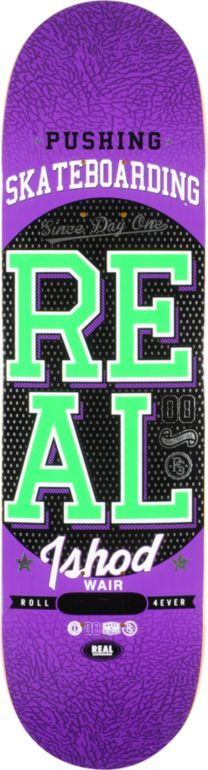 REAL SKATEBOARDS  Real Ishod Pushing R1 8.38 Skateboard Deck  $51.95
