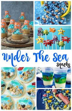 The Best Under the Sea Snacks for Kids, you'll Love these Under the sea Party ideas, So if you are looking for The Best Under the sea snack ideas or Beach theme food ideas you'll find them here. Ocean Themed Snacks and Fun Ocean Party Ideas Ocean Theme Snacks, Ocean Themed Food, Beach Theme Food, Sea Party Food, Beach Themed Snacks, Sea Food, Birthday Party Snacks, Snacks Für Party, Birthday Kids