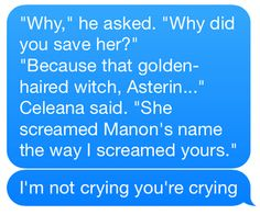 This part killed me I never cry during books and this made me sob