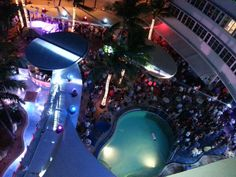Clevelander Night Club one of the hottest places to go on a Sunday night come check it out. Located on 10th Street and Ocean Drive South Beach Miami Florida