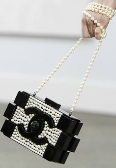 99f303c4f Chanel Lego clutch with pearls from Spring Summer 2014 Collection at Paris  Fashion Week (=)