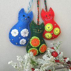 Felt Ornaments Templates | Felt ornaments