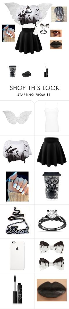 """""""Angels feel too"""" by the-sickest666 ❤ liked on Polyvore featuring BKE core, Sourpuss, NARS Cosmetics and Converse"""