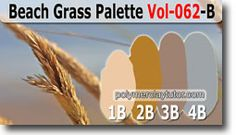 Beach Grass Palette by Polymer Clay Tutor http://www.beadsandbeading.com/blog/beach-grass-palette-premo-color-recipes-vol-062-b/17283/