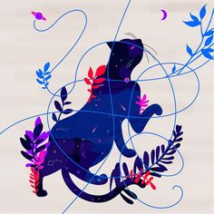 Vibrant And Dreamy Illustrations By Vero Escalante http://designwrld.com/vibrant-illustrations-vero-escalante/