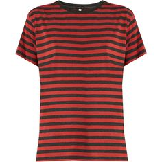 R13 Striped Boyfriend Fit Cotton Shirt as seen on Emma Stone