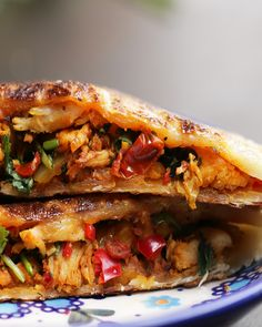 Chili Chicken-Stuffed Parathas