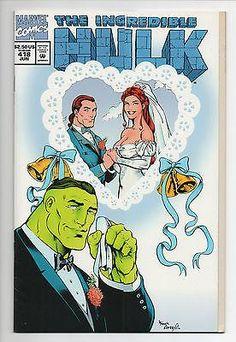 INCREDIBLE HULK 418, die-cut cover, Gary Frank, wedding of Rick and Marlo, FN-VF