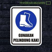 WSKPC064 Sticker Safety Sign Warning Sign Gunakan