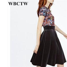 XXS-7XL Large Size Custom Made High Waist Solid Midi Length Woman Skirts  Elegant Autumn b9b2da008452