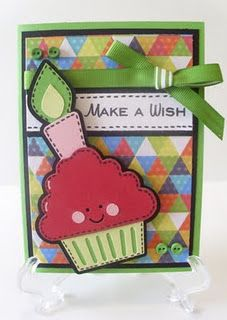 Make a Wish (using Simply Charmed) - Melissa Marshall Cricut Birthday Cards, Birthday Wishes Cards, Birthday Scrapbook, Kids Birthday Cards, Cricut Cards, Card Tags, I Card, Cupcakes, Card Sketches